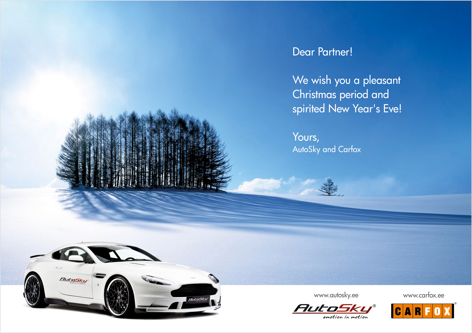 We wish you a pleasant Christmas time!